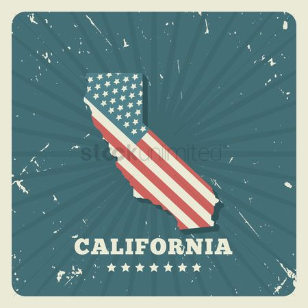 Old fashioned : California map