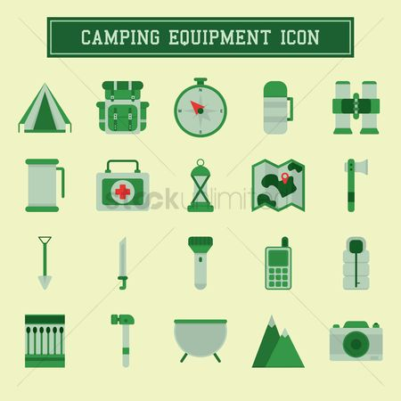 Matchbox : Camping equipment icons