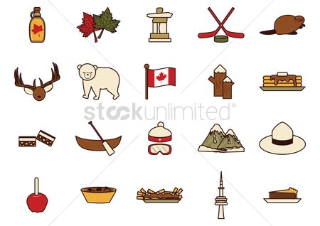 Mountain : Canada icon set