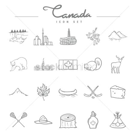 Skyscraper : Canada icon set