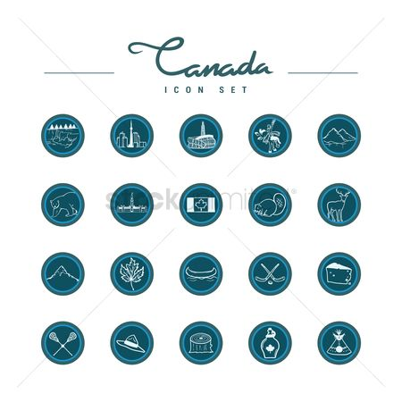 Museums : Canada icons set