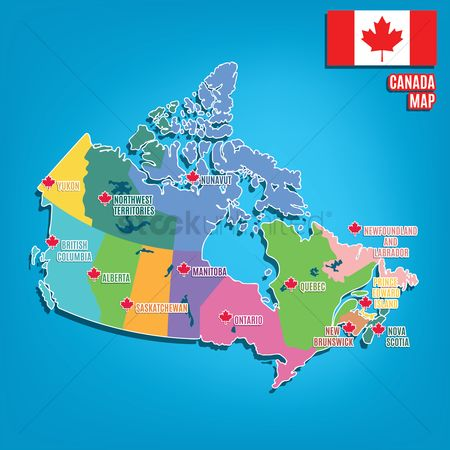 Cartography : Canada map