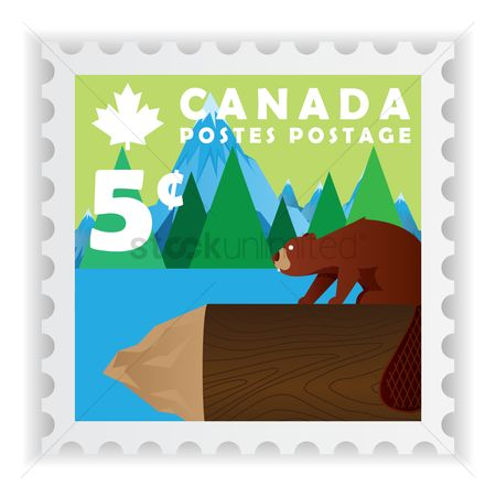 Logs : Canada postage stamp design