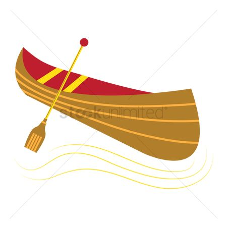 Vessel : Canoe with paddle