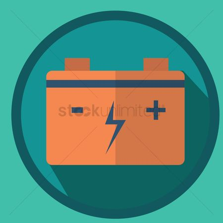 Charging icon : Car battery