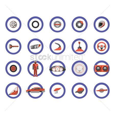 Car speedometer : Car parts icons
