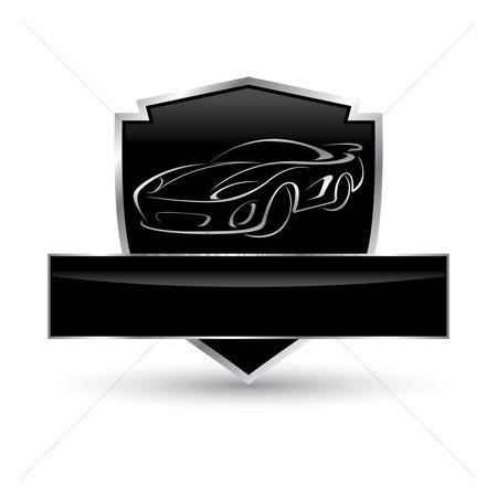Transport : Car shield icon