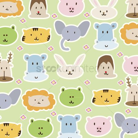 Character : Cartoon animals background