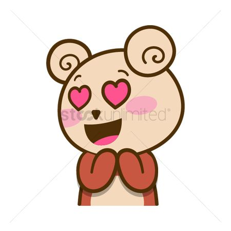 Teddybears : Cartoon bear in love