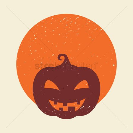Jack o lantern : Carved pumpkin face