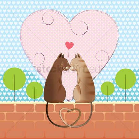 Valentine : Cats in love