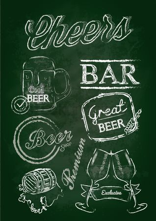 Beer mug : Chalk beer labels