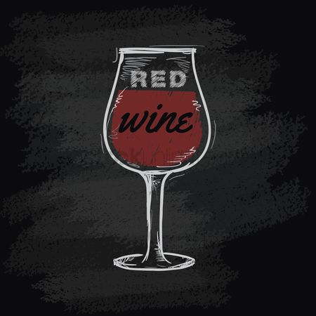 Blackboard : Chalk wine glass icon