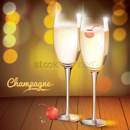 Liquor : Champagne glasses
