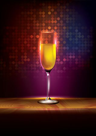 Lighting : Champagne poster design