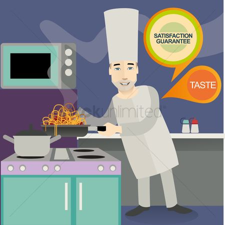Stove : Chef cooking