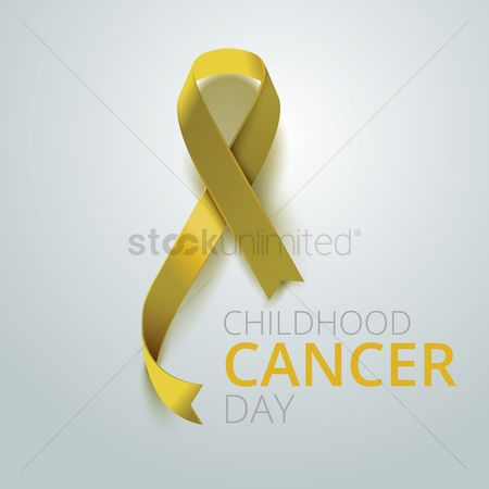 Aware : Childhood cancer day ribbon design