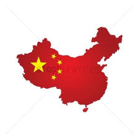 Cartography : China flag map