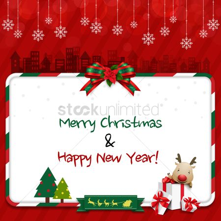 Festival : Christmas and new year greeting