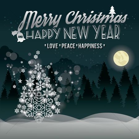Time : Christmas and new year greeting