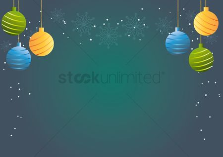 Copyspaces : Christmas baubles background