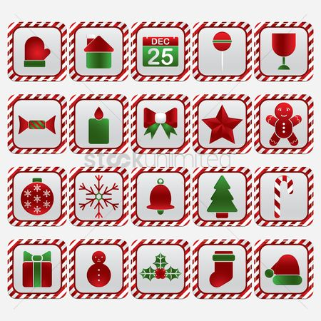 Mitten : Christmas decoration button set