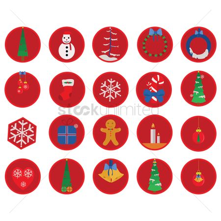 Dolls : Christmas decoration icons