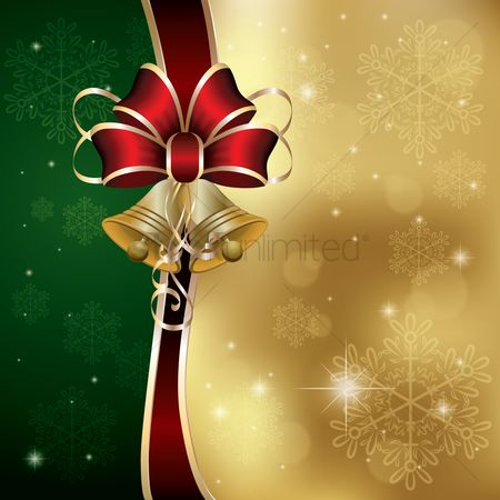 Sparkle : Christmas design with ribbons and bell