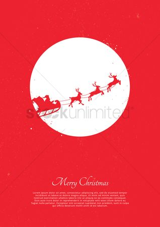 Santa : Christmas greeting design