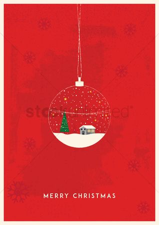 Bauble : Christmas greeting