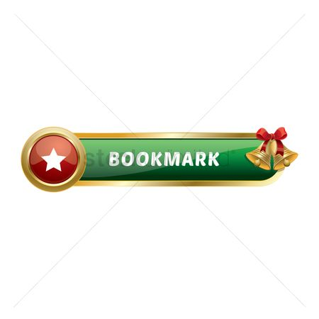 Jingle bells : Christmas themed bookmark button