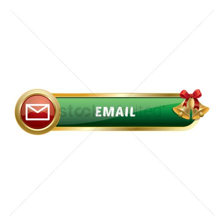 Jingle bells : Christmas themed email button