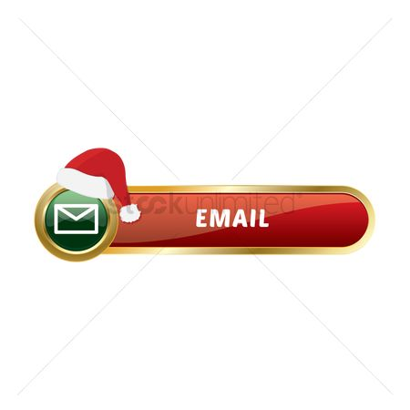 Warm : Christmas themed email button