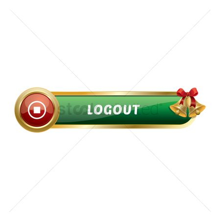 Jingle bells : Christmas themed log out button