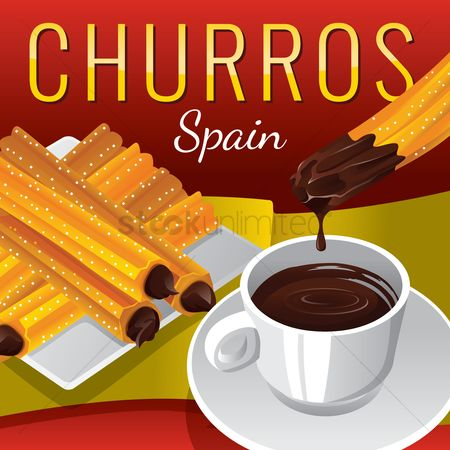 Dishes : Churros with chocolate dipping sauce