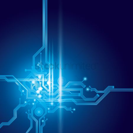 Background abstract : Circuit design on digital background