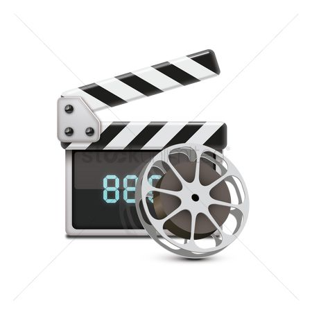 Production : Clapperboard with film reel