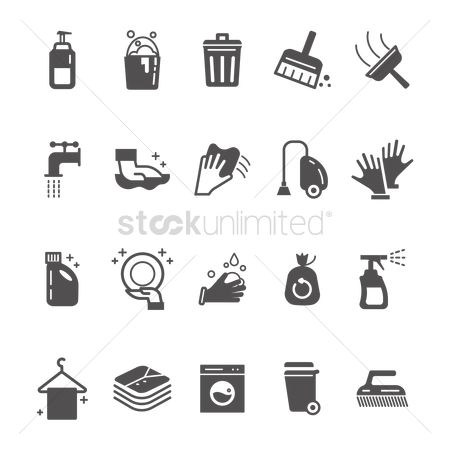 Faucets : Cleaning products and icons