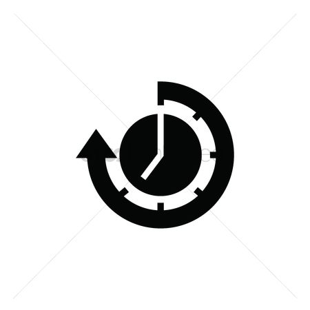 2001854 Continue Clock With Arrow Icon