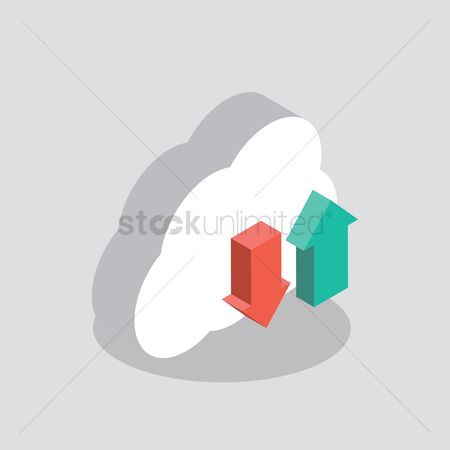 Downloading : Cloud computing icon