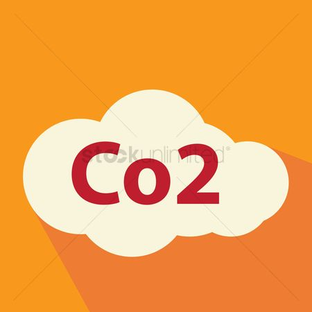 Gases : Co2 sign in cloud