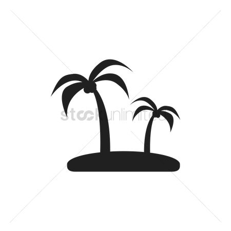 White sands : Coconut trees