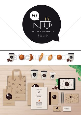 Croissants : Coffee and patisserie corporate identity elements