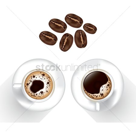 Flavor : Coffee beans with coffee cup