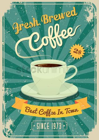 Vintage : Coffee design concept