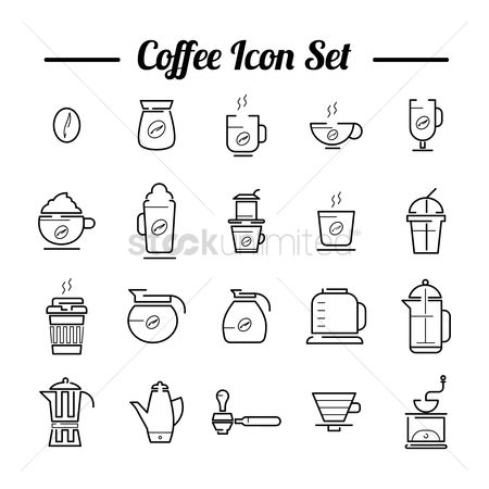 Drips : Coffee icon set