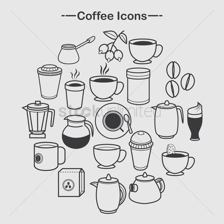 Biscuit : Coffee icons collection