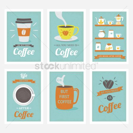 Steam : Coffee poster design collection