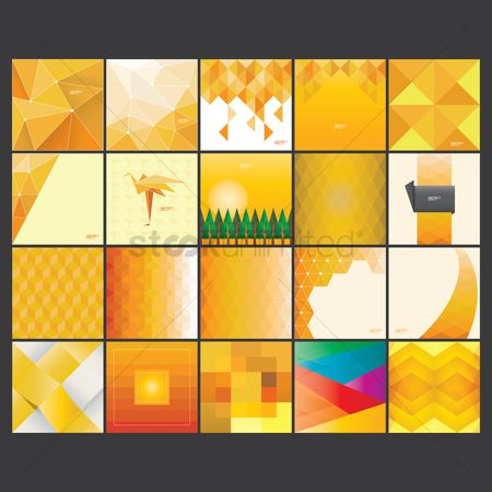 Pixels : Collection of abstract background design