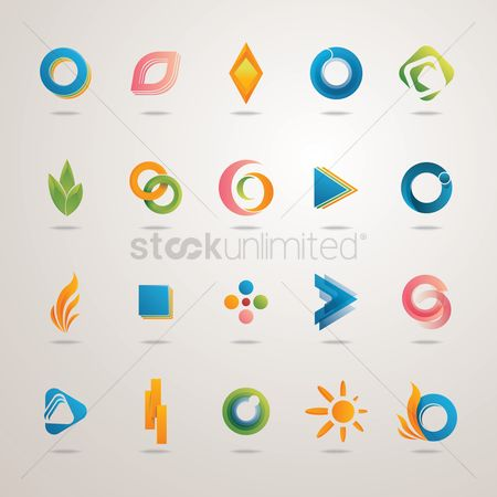 Geometry : Collection of abstract design icons